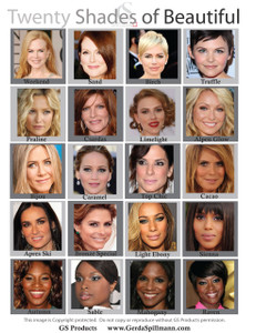 Some of the famous faces...what is your color?  Please request samples if you need to try first.