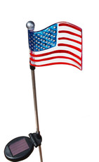 Flag of the United States, White LED light, solar powered