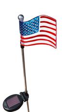 Flag of the United States, White LED light, solar powered