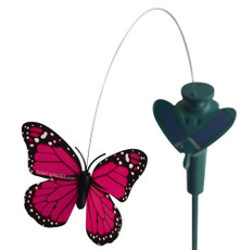 Solar or Battery Powered Fluttering Butterfly in Assorted Color for Parties