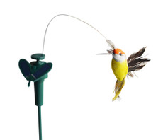 Solar or Battery Powered Fluttering Feather Hummingbird in Assorted Color