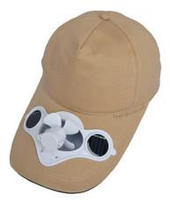 Fan hat, Beige, solar powered, great for games