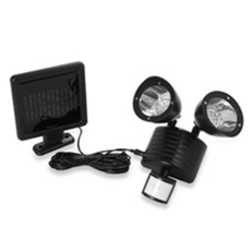 Flood Security Garage Solar Light, 22 LED Black Body