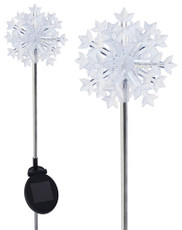 A pack of Two 3D Snowflake  Solar Lights,  Color Change LEDs