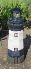 "31"" Tall Beacon Solar Revolving Light House (Black)"
