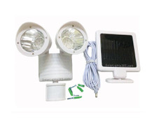 Flood Security Garage Solar Light, 22 LED White Body