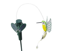 Solar Fluttering Hummingbird with Plastic Wings Yard Stake