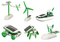Solar White Renewable 6 in 1 Kit, Assembly Toy Kit