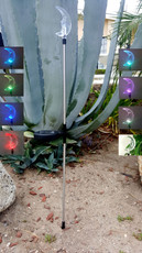 A Pack of Two Moon Solar LED Garden Lights