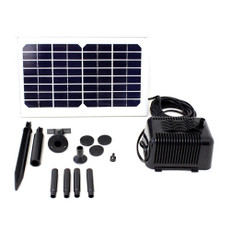 Solar Powered Water Pump Day Runner for fountains or ponds; 5 Watt