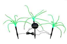 A Set of Three Wild Grass Landscaping Solar Lights, 3 Green LEDs