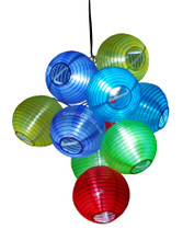 Ten Color Lantern Solar String Lights, 10 White LED lights, solar powered, great for party