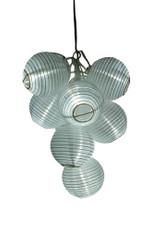 Ten White Lantern Solar String Lights, 10 White LED lights, solar powered, great for wedding