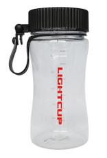 Water Bottle, Black Cap, LED light, solar powered