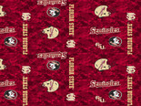 Florida State Seminoles Fleece Blanket Fabric-Digi Camo Design-Sold By The Yard