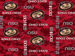Ohio State University Fleece Blanket Fabric-Digi Camo Design-Sold By The Yard