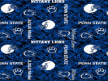 Penn State Nittany Lions Fleece Blanket Fabric-Digi Camo Design-Sold By The Yard
