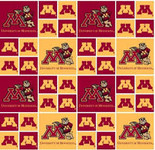 UNIVERSITY OF MINNESOTA-COLLEGE-UNIVERSITY-LOGO-PRINTED-COTTON-QUILTING-FABRIC-04
