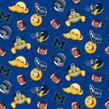 Michigan Wolverines Emoji FLEECE Design