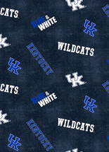 UNIVERSITY OF KENTUCKY DISTRESSED DESIGN COTTON FABRIC