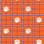 Clemson University Flannel Fabric-Sold by the yard