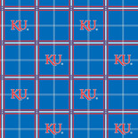 University of Kansas Flannel Fabric-Sold by the yard