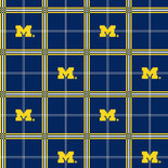 University of Michigan Flannel Fabric-Sold by the yard