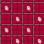 University of Oklahoma Flannel Fabric-Sold by the yard
