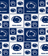Pennsylvania State University Fabric Fine Cotton Classic Geometric Design-Sold by the Yard