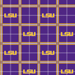 LSU Flannel Fabric-Sold by the yard