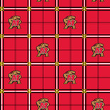 University of Maryland Flannel Fabric-Sold by the yard