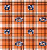 Auburn University Plaid Fleece Design-Sold by the Yard