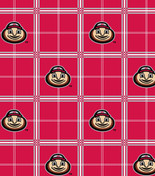 Ohio State University Flannel Plaid Pattern-Sold By The Yard