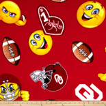University of Oklahoma Emoji Fleece Design-Sold By the Yard