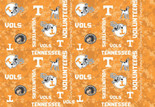 University of Tennessee Digital Fleece Camo Allover Design-Sold by the yard