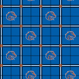 Boise State University Flannel Fabric-Sold by the yard