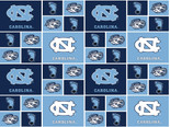 University of North Carolina Fabric Fine Cotton Classic Geometric  Design-Sold by the Yard