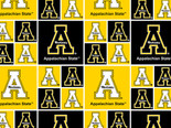 Appalachian State University Fine Cotton Classic Geometric Design-Sold by the Yard