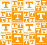 University of Tennessee Fine Cotton Classic Geometric Design-Sold by the Yard