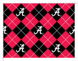 University of Alabama Fabric Super Soft Collegiate Fleece Argyle Design-Sold by the Yardign