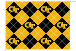 GEORGIA INSTITUTE OF TECHNOLOGY-COLLEGE-UNIVERSITY-LOGO-PRINTED-FLEECE-NO SEW FLEECE BLANKET-FABRIC-01