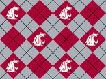 Washington State Fabric Super Soft Collegiate Fleece Argyle Design-Sold by the Yard