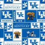 UNIVERSITY OF KENTUCKY-COLLEGE-UNIVERSITY-LOGO-PRINTED-FLEECE-NO SEW FLEECE BLANKET-FABRIC-01