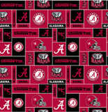 UNIVERSITY OF ALABAMA-COLLEGE-UNIVERSITY-LOGO-PRINTED-FLEECE-NO SEW FLEECE BLANKET-FABRIC-02