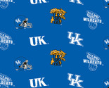 UNIVERSITY OF KENTUCKY-COLLEGE-UNIVERSITY-LOGO-PRINTED-FLEECE-NO SEW FLEECE BLANKET-FABRIC-05