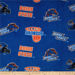 Boise Fabric Super Soft Collegiate Classic Fleece Allover Design-Sold by the Yard