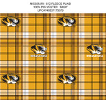 UNIVERSITY OF MISSOURI-COLLEGE-UNIVERSITY-LOGO-PRINTED-FLEECE-NO SEW FLEECE BLANKET-FABRIC-01