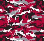 University of Alabama Camouflage Fleece Fabric Sold by the yard