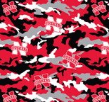 University of NEBRASKA Camouflage Fleece Fabric Sold by the yard
