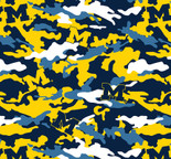University of Michigan Camouflage Fleece Fabric Sold by the yard